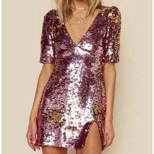For Love & Lemons | Sparklers Party Dress Sequins